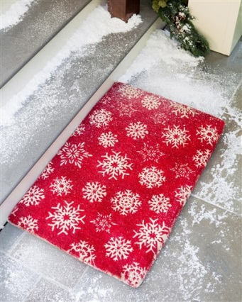 Balsam Hill Snowflake Coco Welcome Mat