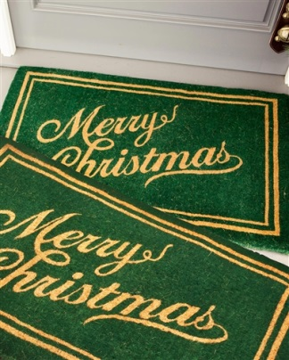 Balsam Hill Christmas Script Coco Welcome Mat