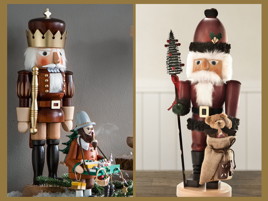 Balsam Hill Handcrafted Items - German Nutcracker Soldier and German Nutcracker Santa
