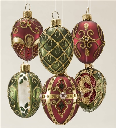 Egg Blown Glass Ornaments from Balsam Hill