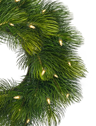 The Majestic Pine Wreath and Garland are breathtaking additions to your home.