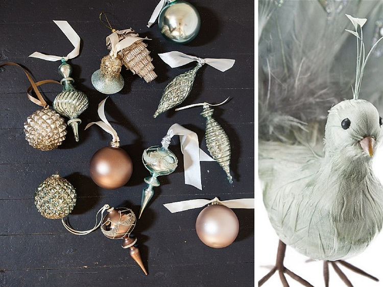 Winter Frost Decorating – Winter Frost Ornament Set and Winter Frost Bird Ornament