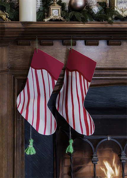 DIY Candy Cane Piñata Stockings