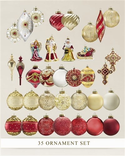 35-Piece Noel Ornament Set from Balsam Hill