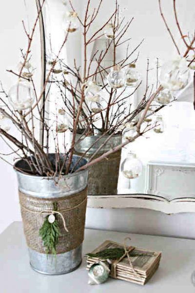 Decorated twigs by Jenna of SAS Interior