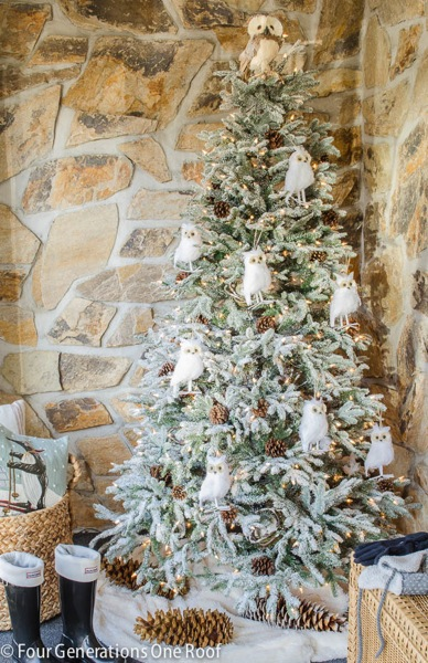 Decorated Balsam Hill Frosted Fraser Fir by Jessica of Four Generations One Roof