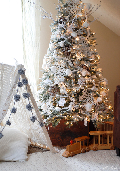 Kristen of Ella Claire Inspired Decorates a Balsam Hill Frosted Fraser Fir