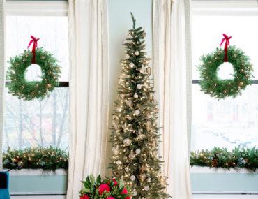 Revelstoke Fir stands between two Balsam Fir Wreaths.