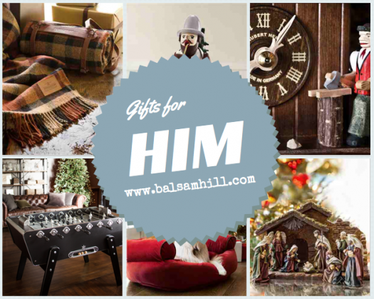 holiday gift guide for Him from Balsam Hill