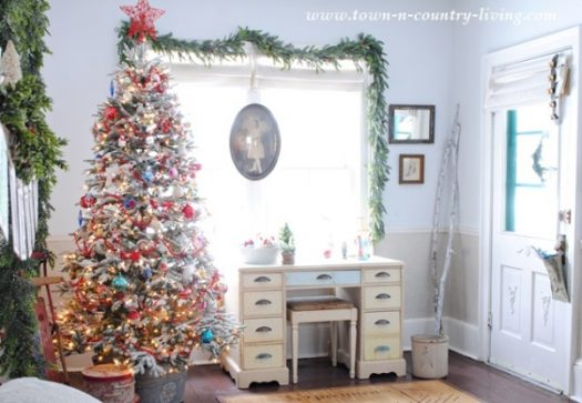 Decorated Balsam Hill Frosted Fraser Fir