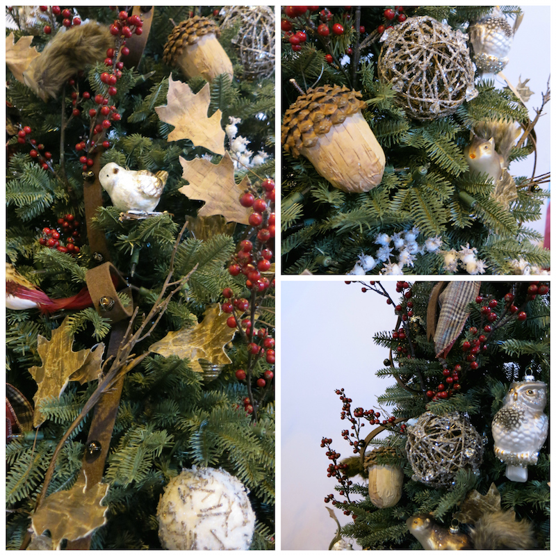 woodland tree ornaments