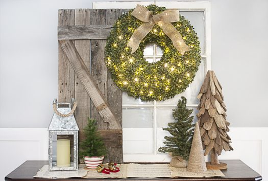 Balsam Hill LED Boxwood Wreath