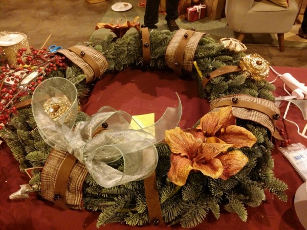 Lizelle's decorated wreath