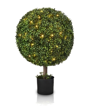Outdoor LED Boxwood Ball Topiary from Balsam Hill