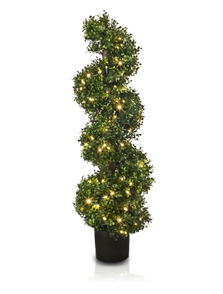 Outdoor LED Boxwood Spiral Topiary from Balsam Hill