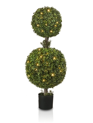 Outdoor LED Boxwood Double Ball Topiary from Balsam Hill