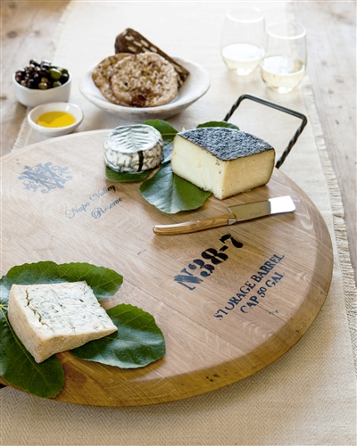 Wine Barrel Cheese Tray from Balsam Hill