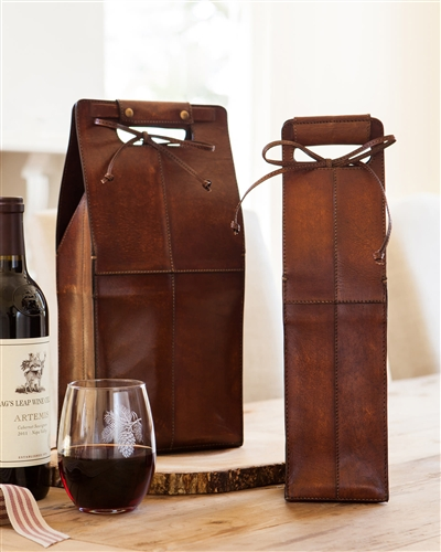 Leather Wine Carrier from Balsam Hill