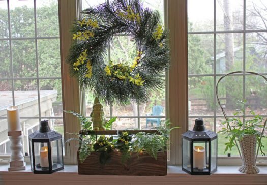 Donna's pretty woodland-themed windowscape