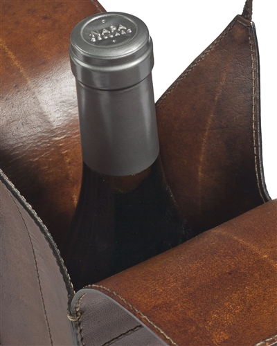 Balsam Hill's Leather Wine Carrier