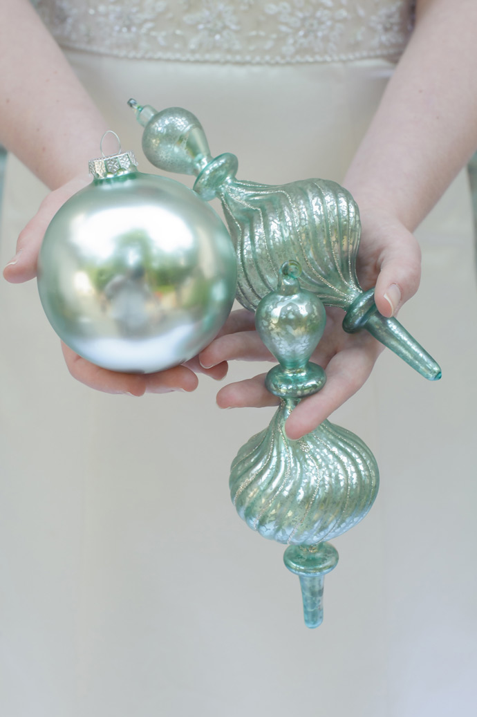 Balsam Hill Ornaments as Wedding Favors