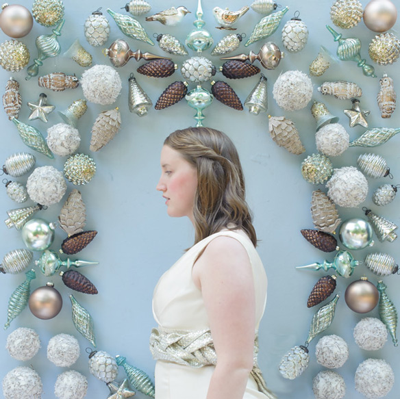 The Perfect Ornament Backdrop for your DIY Winter Wedding