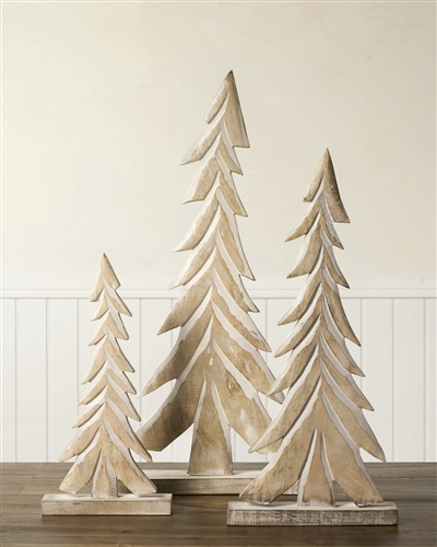 Wood Tabletop Christmas Tree Set by Balsam Hill