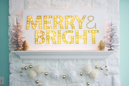 Customizable light-up marquee