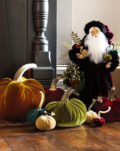 Balsam Hill's Hot Skwash Pumpkins on display