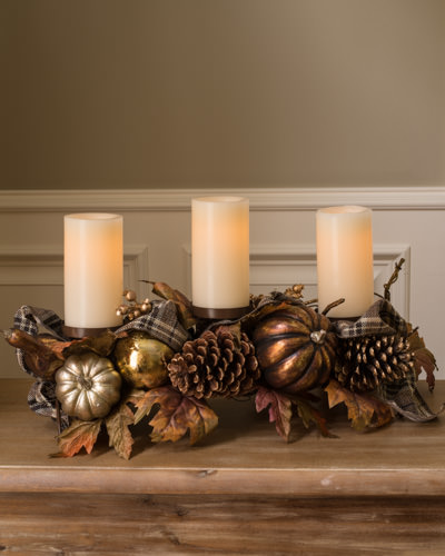 Rustic and elegant Autumn Shimmer Candle Holder