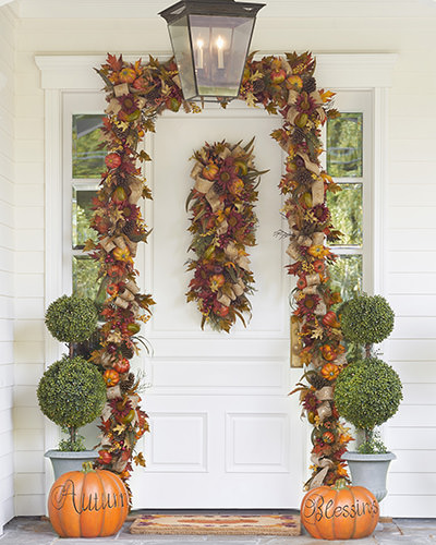 Fall Harvest Garland and Swag provide a profusion of colors and textures