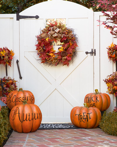 Our Fall Outdoor Decorative Pumpkins showcase the bounty of autumn