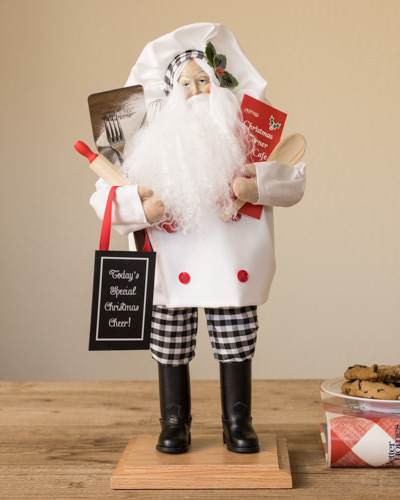 Santa with a fun and whimsical touch