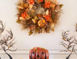 Balsam Hill's Pumpkin Festival Autumn Wreath