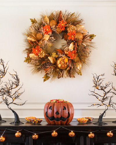 Vibrant and festive Pumpkin Festival Autumn Wreath