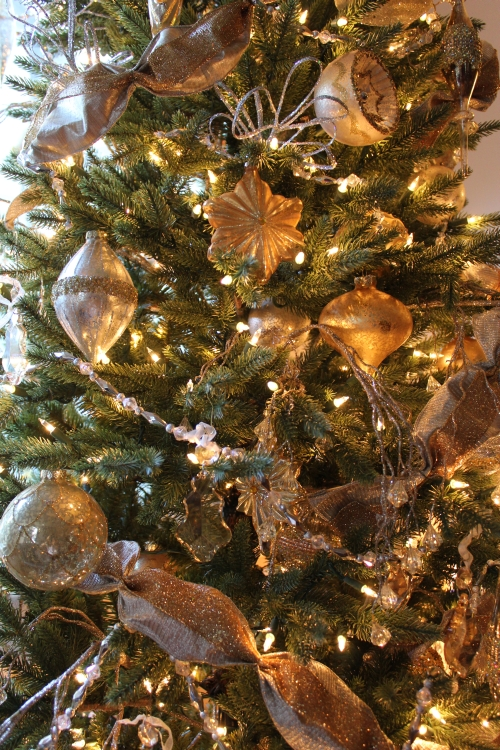 Ornaments in varied sizes and designs lend visual interest to your tree
