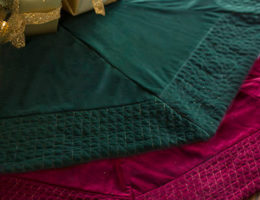 Quilted Velvet Tree Skirt by Balsam Hill