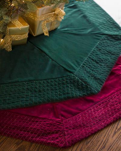 Quilted Velvet Tree Skirt by Balsam Hill