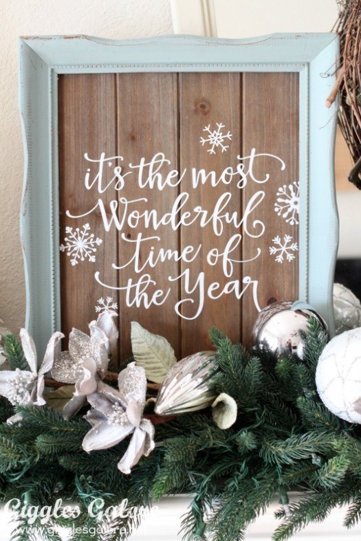 Vinyl is a great way to update décor, such as this wooden sign