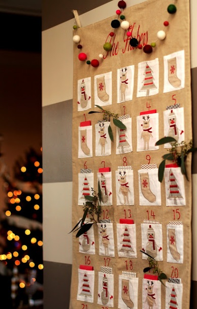 Embroidered Fabric Advent Calendar