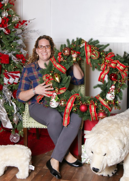 Anne with her decorated wreath