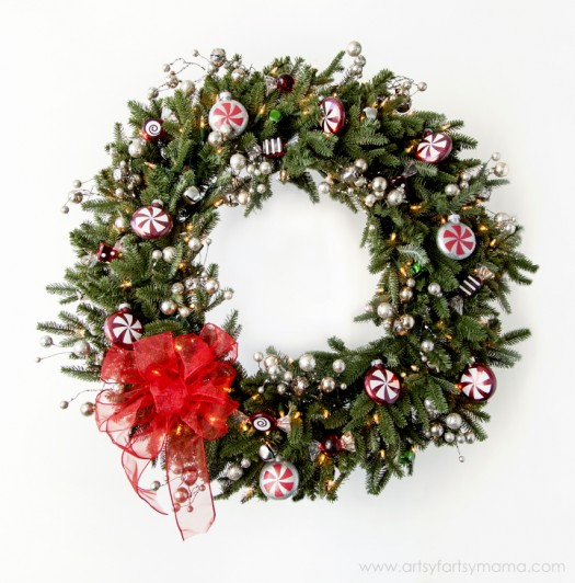 Lindsay's stunning and festive wreath