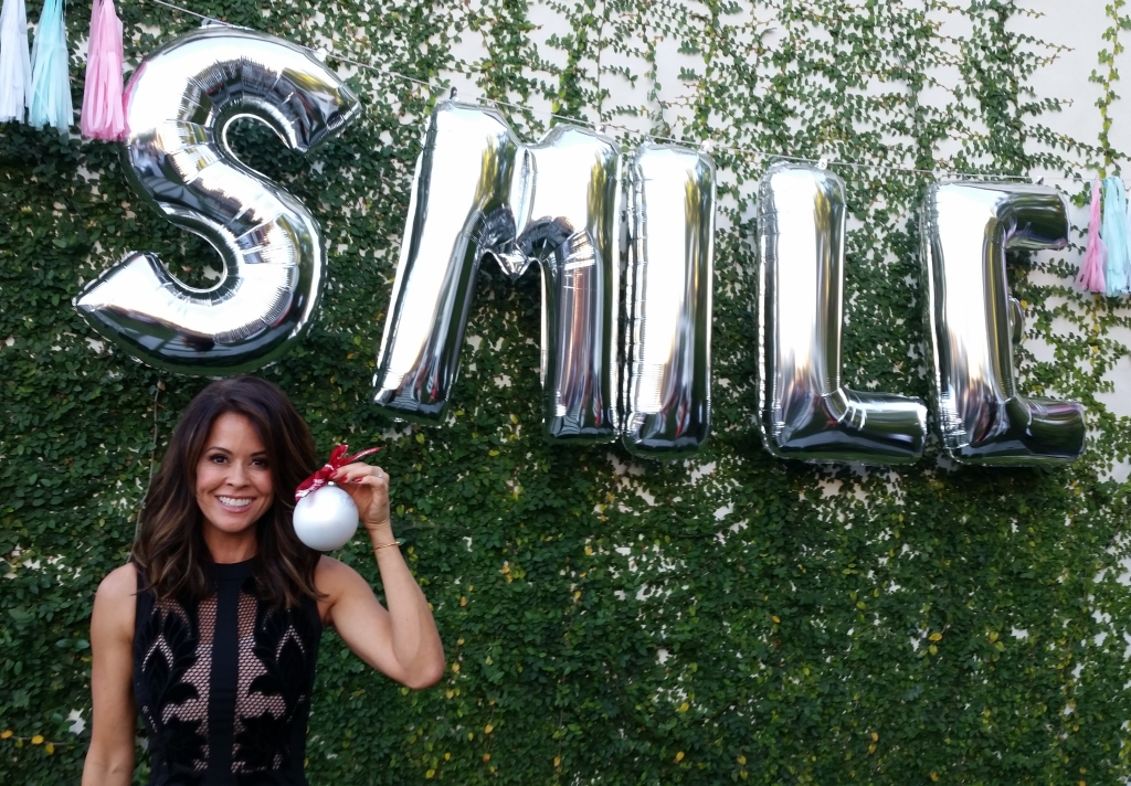 Brooke Burke-Charvet with her autographed ornament