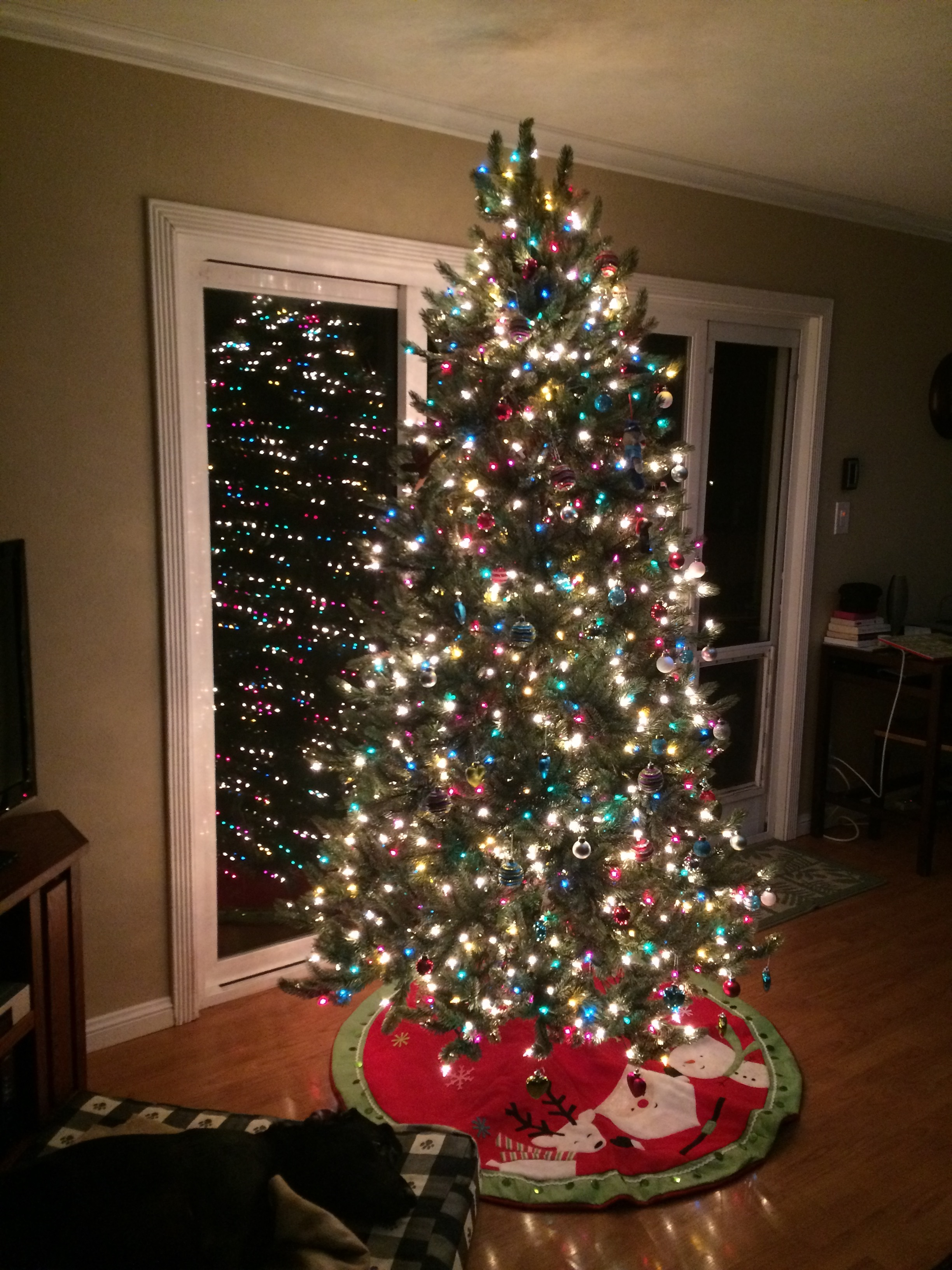 Slim Spruce Christmas Tree