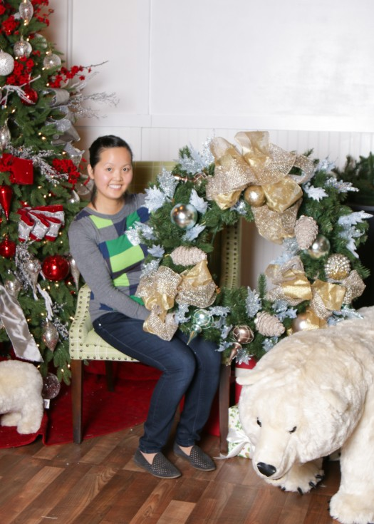 Ngoc with her adorned wreath