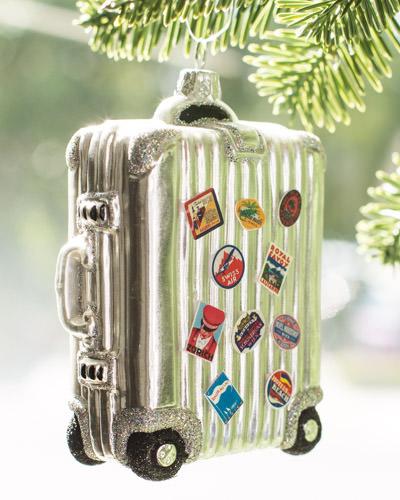 Balsam Hill's Vintage Suitcase European Travel Ornament