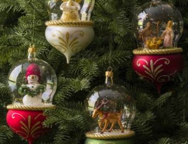 European Glass Tree Ornament
