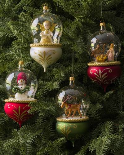 European Glass Tree Ornament
