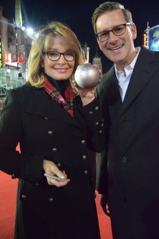 Veteran soap opera actress Deidre Hall with Balsam Hill CEO Thomas Harman