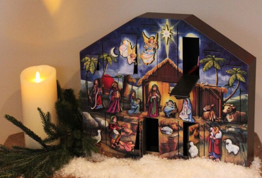 Balsam Hill's Nativity Advent Calendar serves as a reminder of the reason for the season